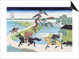 View of Mount Fuji from Horseback Posters by Katsushika Hokusai