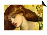 Santa Lilies; Holy Lily Prints by Dante Gabriel Rossetti