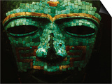 Teotihuacan Mosaic Sculpture Mask Posters by Randy Faris