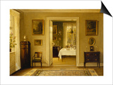 Looking Through to the Dining Room Prints by Hans Hilsoe