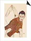 Self Portrait in a Jerkin with Right Elbow Raised, 1914 Posters by Egon Schiele