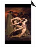 Dante and Virgil in Hell Posters by William Adolphe Bouguereau