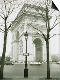 Arc de Triomphe and Place Charles de Gaulle in Paris Art by Ladislav Janicek