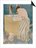 Woman Bathing, 1890-91 Prints by Mary Cassatt