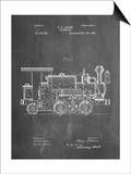 Train Locomotive Patent Prints