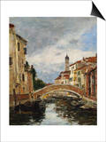 A Small Venetian Canal; Petit Canal a Venise Prints by Eugène Boudin