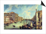 Grand Canal at San Vio Art by  Canaletto