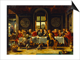 The Last Supper Prints by Pieter Coecke van Aelst (Studio of)