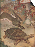 The Hare and the Tortoise Print by Milo Winter