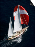"Sy ""Adele"", 180 Foot Hoek Design, Underway Off Bora Bora Island, French Polynesia Posters by Rick Tomlinson"