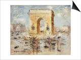 L'Arc de Triomphe, Place of the Star Prints by Gustave Loiseau