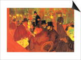 In the Moulin Rouge Póster por Henri de Toulouse-Lautrec