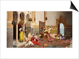The Harem Dance Prints by Giulio Rosati