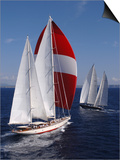 "Sy ""Adele"", 180 Foot Hoek Design, at the Superyacht Cup Palma, October 2005 Print by Rick Tomlinson"