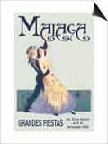 Malaga Posters by Sara Pierce