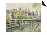 Le Pont Neuf, Paris Prints by George Leslie Hunter