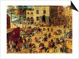 Children's Games Complete Print by Pieter Breughel the Elder