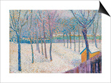 The Orchard in the Snow Prints by Hippolyte Petitjean