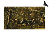 The Prince Entering the Briar Wood Prints by Edward Burne-Jones