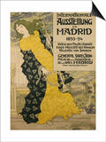 Internationale Ausstellung Zu Madrid, 1893 Art by Eugene Grasset