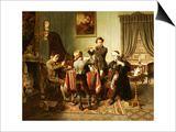 The Quartet Print by Friedrich-peter Hiddemann