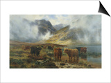 By Loch Treachlan, Glencoe, Morning Mists, 1907 Posters by Louis Bosworth Hurt