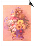 Vase of Flowers Posters by Mary Cassatt