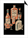 Whiskey, Wine & Gin Posters