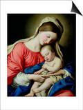Virgin and Child Poster by  Giovanni Battista Salvi da Sassoferrato
