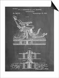 Dentists Chair Patent 1886 Posters