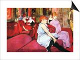 Salon in the Rue De Moulins Lámina por Henri de Toulouse-Lautrec