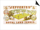 A Royal Lawn Tennis Set for 4 Players Made by Jefferies, Woolwich, circa 1875 Posters
