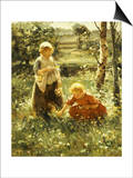 Children in a Field, 1911 Prints by Evert Pieters