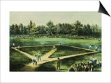 The American National Game of Baseball Posters by  Currier & Ives