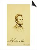 Photographic Portrait of Abraham Lincoln, 1864 Print by Mathew Brady
