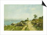 The Road, Antibes Poster by Eugène Boudin