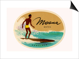 Moana Hotel Luggage Label Print