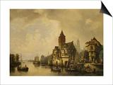 A Continental River Town, 1856 Prints by Leon Bakst