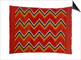 A Navajo Transitional Wedgeweave Blanket Print