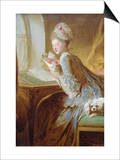 The Love Letter Art by Jean-Honoré Fragonard
