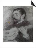 Guitariste Affischer av Theo van Rysselberghe