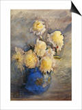 Peonies in a Blue Vase Prints by Rose Maynard Barton