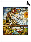 A Fine Leaded and Plate Glass Window, circa 1895 Prints by  Tiffany Studios