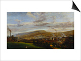 An Industrial Landscape Showing an Ironworks, with Figures and Animals in the Foreground Prints by Penry Williams