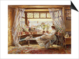 Reading by the Window, Hastings Art by Charles James Lewis