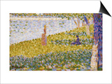 Women on the River Bank Art by Georges Seurat