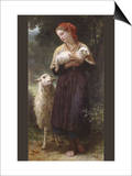 The Newborn Lamb Print by William Adolphe Bouguereau