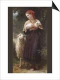 The Newborn Lamb Print by William Adolphe Bouguereau