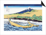 Fishing Boats Within View of Mount Fuji Prints by Katsushika Hokusai
