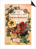 Vilmorin-Andrieux Seed Catalog Poster by Philippe-Victoire Leveque de Vilmorin